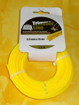 15 m Nylon Schneidfaden Ø 3 mm 5-kant, Trimmerfaden für Alu Fadenkopf - Produktbild